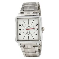 TIGERHILLS RECTANGLE STYLISH STEEL WATCH FOR MEN M.N.16001(WHITE)