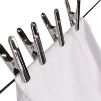 STAINLESS STEEL CLOTH DRYING CLIPS SET OF 12