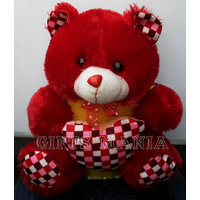 Red Teddy Bear With Heart 1, Fresh Arrival In Market, Quality Fabric