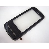 Original Touch Screen Digitizer Glass For Nokia C6 Black With Side Frame