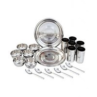 Aro Stainless Steel Dinner Set 24 Pcs