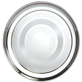 VBS Stainless Steel Full Plates (Set of 6) at shopclues
