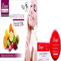 LEEYA AHA FRUIT FACIAL KIT 500 Gm + LEEYA DE TAN CREAM PACK 80 Gm