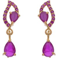 ELEGANT & BEAUTIFUL STONE STUDDED STUDS/HANGINHG/EARRINGS (RUBY) - PCE1113