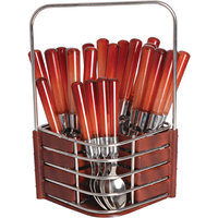 Dinette New  Sensations Cherry Brown Cutlery Set With Designer Wooden Finish Stand