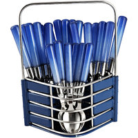 Dinette New  Sensations Blue Cutlery Set With Designer Wooden Finish Stand