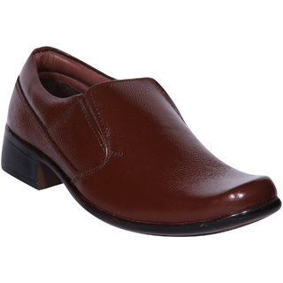 Jackboot Brown Leather Formal Shoes (JB-703-Brown)