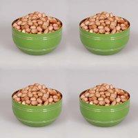 King International - Stainless Steel Green Designer Bowl/Katoris Set Of 4Pcs