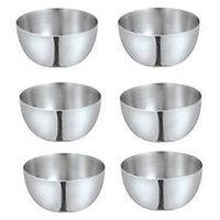 King-International -Stainless Steel Apple Bowls/Steel Katori Set Of 6 Pcs