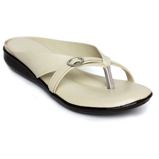 Nshell Cream Faux Leather Slipon