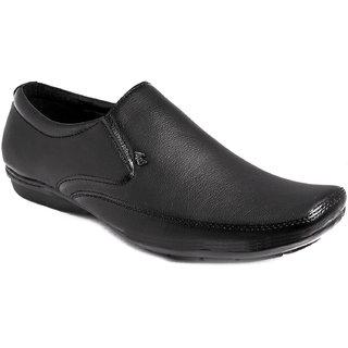 AZAZO Men Black Slip On Formal Shoes - 81986985