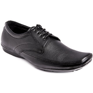 AZAZO Men Black Lace Up Formal Shoes - 81987088