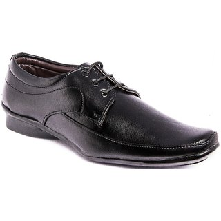 AZAZO Men Black Lace Up Formal Shoes - 81987399