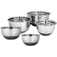 Montstar Set Of 5 Professional Stainless Steel Bowls With Non Slip Silicone Base