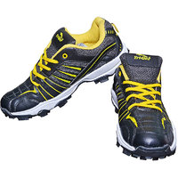 TRIQER Black Yellow Training And GYM Shoes