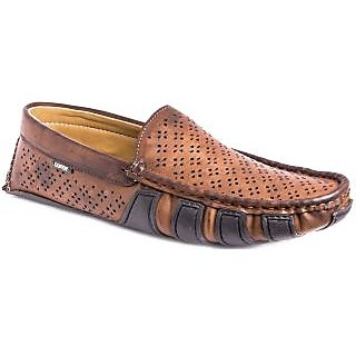 AZAZO Men Brown Slip On Casual Loafer Shoes