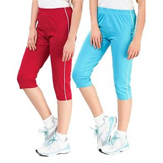 ESPRESSO- SPORTIVE CAPRI PACK OF 2 PCS RED & AQUA