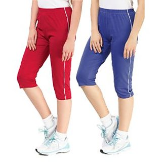 ESPRESSO- SPORTIVE CAPRI PACK OF 2 PCS RED & ROYAL BLUE