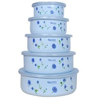 Ideals Storage Containers With Cover /Lid Set Of 5 Pieces