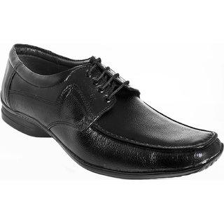 AZAZO Men Black Lace Up Formal Shoes