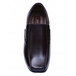 Dr.kobler Burgandy Leather Formal Shoes For Men