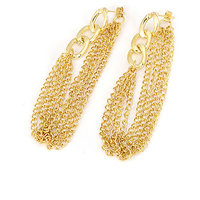 Young & Forever Gold Chain & Tassel Drop Earrings For Women By Crazeemania