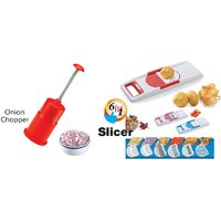 Amiraj Combo Of 6 In 1 Slicer & Onion Chopper