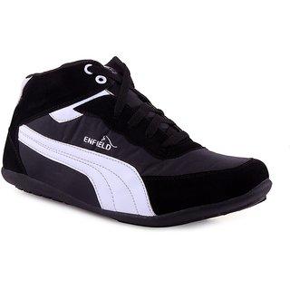 Shooz Black & White Trendy Casual Shoes For Men
