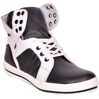 Shooz Smart Black & White Casual Shoes