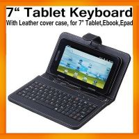 "7"" Inch Black Leather Cover Case USB Keyboard For Android Tablet IPad EPad APAd"