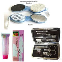 Combo Of 4 In 1 Pedicure Brush + Dead Skin Remover + 7 In 1 Manicure Kit