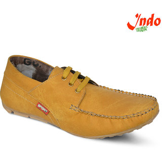 Indo Men's Tan Synthetic Casual Shoes (Premium Quality) - PRN0036NL