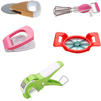Famous, Combo Of Veg Cutter, Egg Cutter, Pizza Cutter, Apple Cutter & Beater