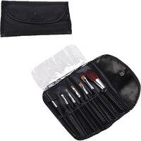 7 PCS Powder Blush Makeup Brush Cosmetic Brushes Set Kit W/ Black Pouch