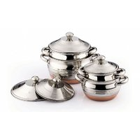 Klassic Vimal 4 Pcs Copper Bottom Dish