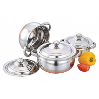 Klassic Vimal 3Pcs Classic Copper Silver Touch Dish
