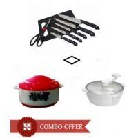 Kitchen Pro Smart Kitchen Combo- Dough Maker, Casserole, Chopping Board Set