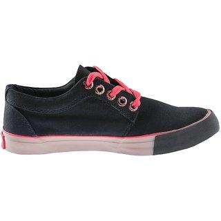 Sparx Classic Black Canvas Shoes For Men