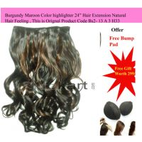 "Maroon & Natural Black 24"" Hair Extension Natural Hair Feeling , + Free Gift"
