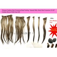 "Golden Brown 24"" Hair Extension Natural Hair Feeling , + Free Gift Worth 299"