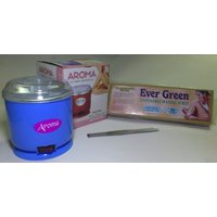 Combo Of Aroma WAX Heater + Disposable Hair Removal Waxing 90 Strips + Wax Knife