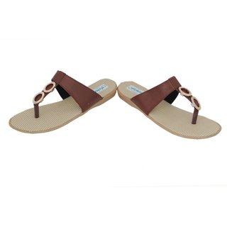 Frankfurt Brown Thong Daily Wear Comfortable Flat