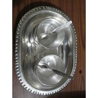 Silver Metal Dry Fruits Tray