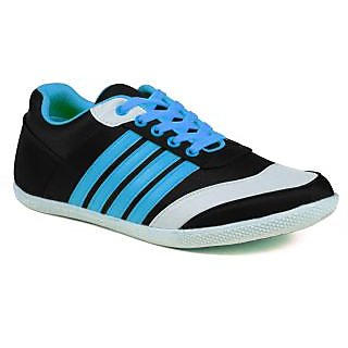 Shooz Trendy Black & Blue Casual Shoes