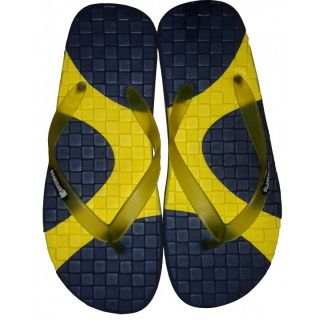 Guardian Men's Rubber Flip Flops/Slippers In Yellow & Black Colors