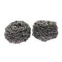 2Pcs Durable Steel Wire Ball Cleaning Brush - Silver-black