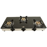 Chef Pro Classic Glass Cook Top With 3 Burner Gas Stove - CGS703