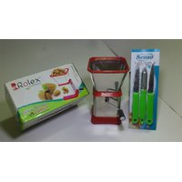 Stainless Steel Dry Fruits & Chilly Cutter Grater With Kitchen Knife Peeler Set