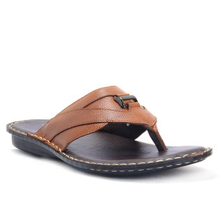 E-lyte Men's Leather Thong EST-85035 Brn Tan