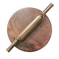 Khushal Hand Made Wooden Chakla Belan (Rolling Pin)
